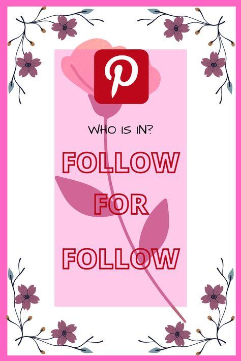 Lets follow for follow. f4f | follow for follow | peoplefollow for follow | pinterestfollow for follow | pinterest peoplefollow for follow. #f4f #followforfollow #peoplefollowforfollow #pinterestfollowforfollow #pinterestpeoplefollowforfollow