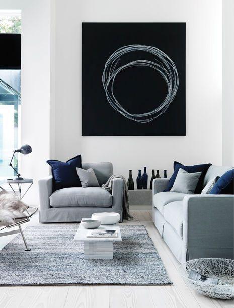 Sala Azul con gris