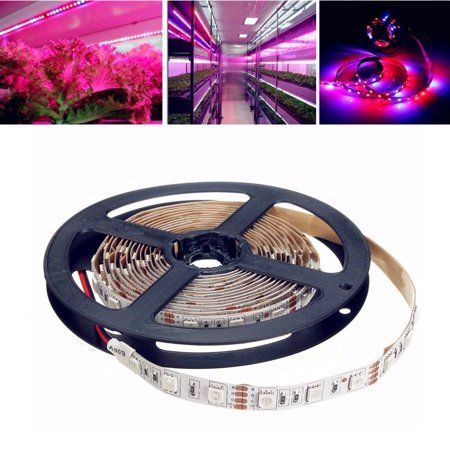 Solmore 3 3 6 6 13 1ft Waterproof Flexible Led Rgb Strip Lights 5050 Smd Leds 12v Dc Led Plant Grow Lights In 2020 Grow Lights Led Grow Lights Grow Lights For Plants