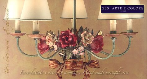 Lampadari in ferro battuto - Handicrafted wrought iron chandelier GBS Illuminazione – Ferro Battuto – Wrought Iron – GBS Arte e Colore