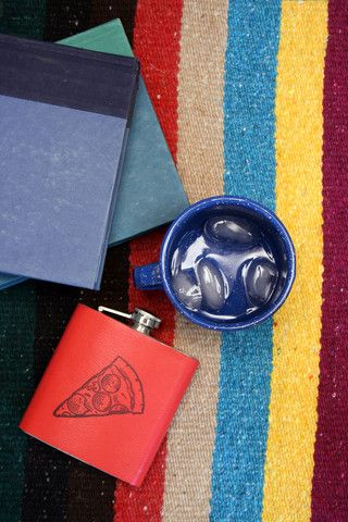 handmade leather pizza flask for perfect picnic