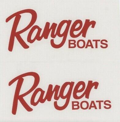 Details About 2x Ranger Boats 6 Red Decals Stickers For Truck