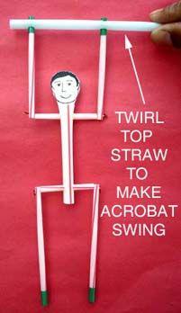 Swinging Acrobat - Toys from Trash