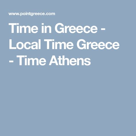 local time in greece