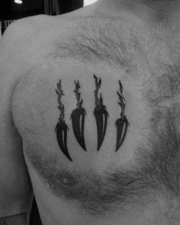 19 Tatuajes de garras para hombres