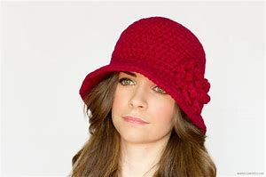 1f853991744db Image result for Crochet Cloche Hat Pattern with Flower | crochet ...