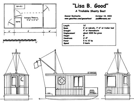 duckworks - lisa b good 16'. flatwater houseboat/bayou cruiser