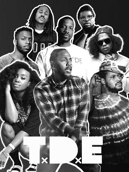 Top Dawg Entertainment Poster By Bradmcgo Entertainment Black Hippy Hip Hop Art