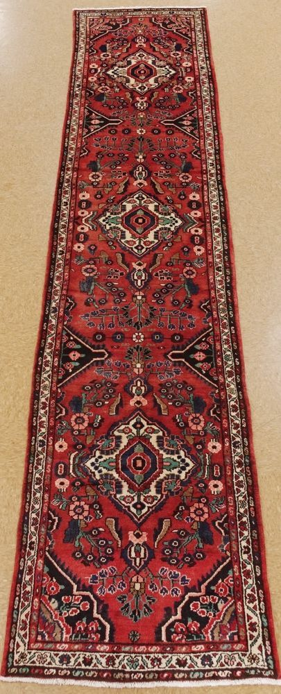 Persian Hamedan Tribal Hand Knotted Wool Red Blue Oriental Rug Runner 3 5 X 16 8 Blue Oriental Rug Oriental Rug Runners Oriental Rug