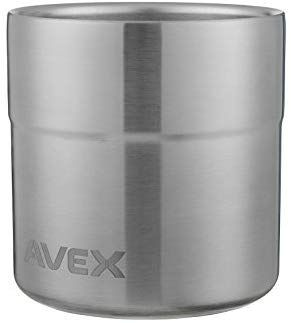 Avex 13 oz Slate Sundowner Stainless Steel Rocks Glass