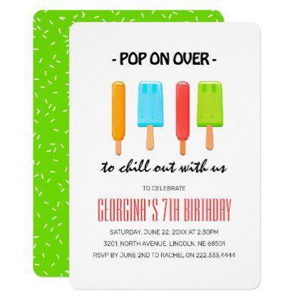 Fruity Popsicle Party Kids Birthday Invitation Zazzle Com In 2020 Popsicle Party Birthday Invitations Kids Kids Birthday Party Food