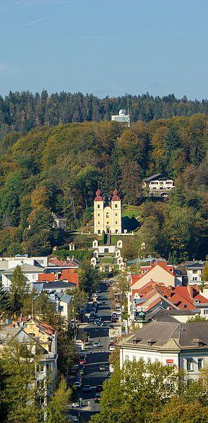 Klagenfurt Kreuzbergl Mit Kreuzberglkirche Worthersee Klagenfurt Reiseziele