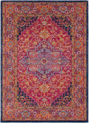 Surya Vintage Geometric 10 X 14 Area Rug In Garnet Rugs Area