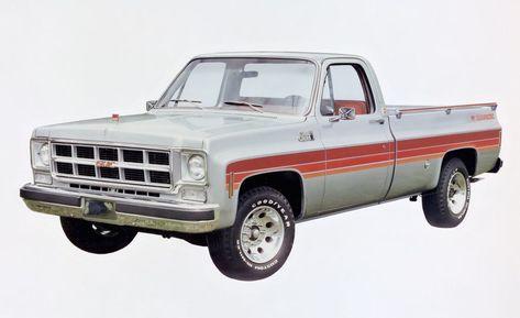 Special Edition Trucks Of The 70s K Billy S Super Badge And Stripe Jobs Pickup Trucks Trucks Gmc Trucks