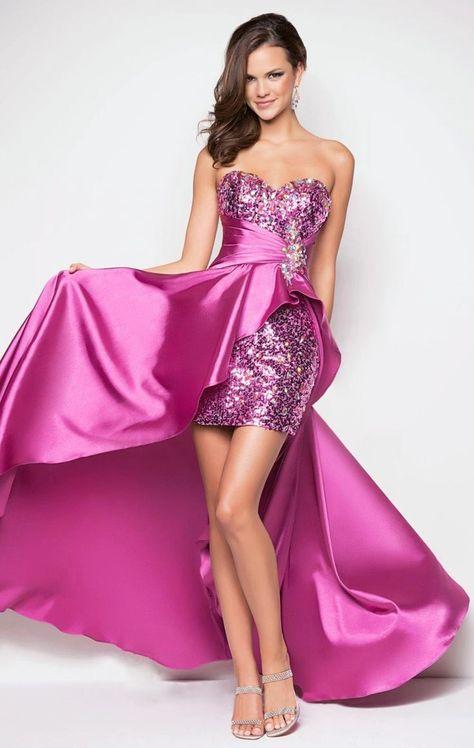 Vestidos para fiestas de noche en rosa para sentirte como una princesa
