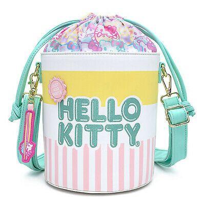 Cute Girl/'s Pink Hello Kitty Bow Lunch Bag Bento Box Handbag Insulation Zipper