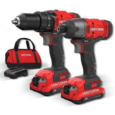 Power Tools 42346 Craftsman Cmck200c2 V20 20v Max Lithium Ion Cordless Combo Kit New Buy It Now Only 100 Combo Kit Power Tool Set Craftsman Power Tools