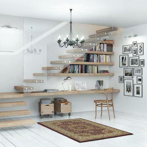 Rangement Sous Escalier 70 Idees Pour Mieux Organiser L Espace Vacant Rangement Sous Escalier Amenagement Escalier Bureau Sous Escalier