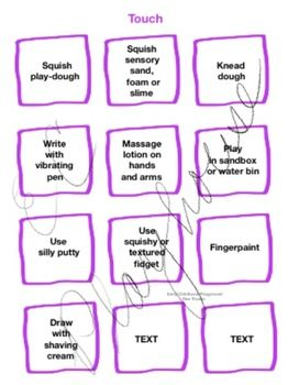image regarding Break Cards for Students Printable identify Sensory Crack Playing cards Editable and Printable Early Childhood