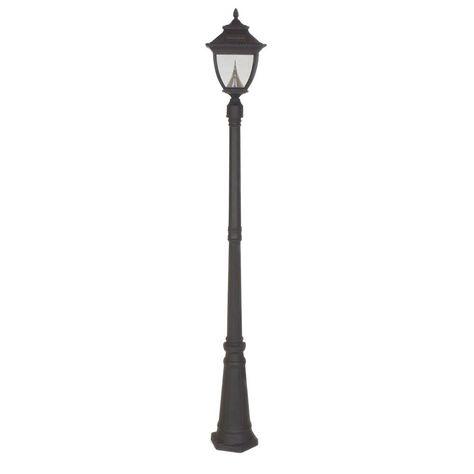 Solar Black Outdoor Lamp Post Gs 104s