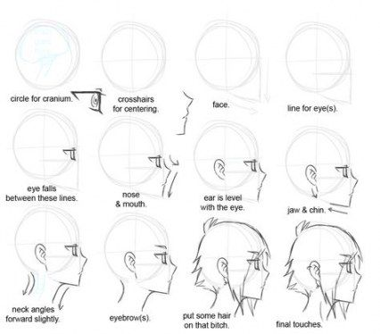 55 Trendy How To Draw A Face Profile Anime Drawing Tutorial Drawing Tips Anime Tutorial