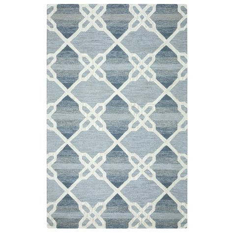 Rizzy Home Caterine Blue 9 ft. x 12 ft. Rectangle Area Rug