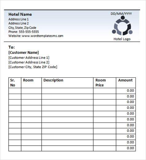 blank hotel receipt books Hotel Receipt Template Holiday Inn - blank timesheet template