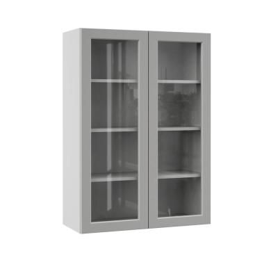 Hampton Bay Designer Series Melvern Assembled 15x36x12 In Wall Kitchen Cabinet With Glass Door In White Wgd1536 Mlwh The Home Depot Glass Cabinet Doors Glass Kitchen Cabinet Doors Open Shelving Kitchen Cabinets