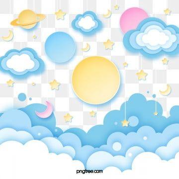수백만 개의 Png 이미지 배경 및 벡터 에 대한 무료 다운로드 Pngtree Baby Clip Art Cartoon Clouds Holiday Paper