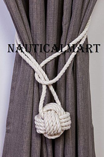 Nauticalmart Hemp Rope Knot Tie Backs Nautical Curtain Ti Https