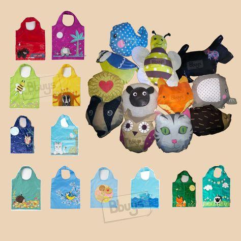Sass Reusable Shopping Bag Foldaway Eco Sheep Scottie Owl Fox Cat Bird Hedgehog