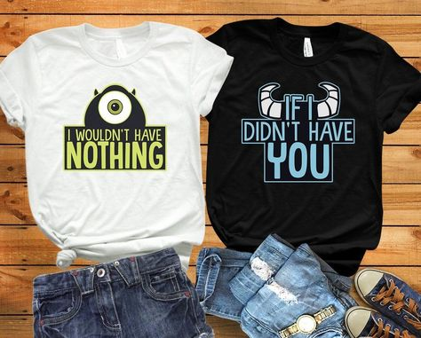 Monsters Inc shirt Disney couple shirts Mike and Sully shirts Monster University Matching shirts Disney world Disney matching shirts - Bestie Shirts - Ideas of Bestie Shirts -