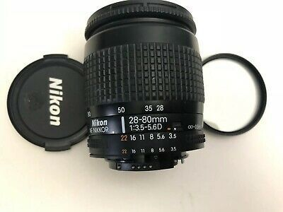 Nikon Nikkor 28 80mm F 3 5 5 6 Af D Lens Excellent In 2020 Camera Lenses Lenses Nikon