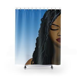 Melanin Magic Shower Curtain Curtains Bathroom Curtains Afro