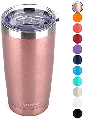 Amazon Com Sunwill 20oz Tumbler With Lid Stainless Steel Vacuum Insulated Double Wall Travel Tumbler Du Thermal Cup Tumblers With Lids Insulated Coffee Mugs