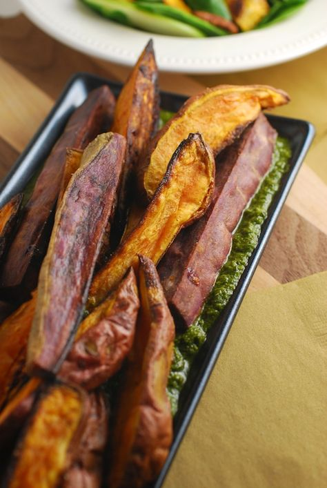 Roasted Sweet Potatoes with Italian Salsa Verde #partycrafters #thanksgiving