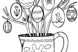Planse De Colorat Cu Oua Pentru Pasti Desene în 2019