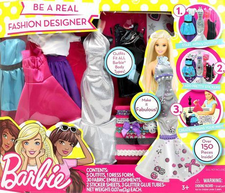 Ens Jeu Deviens Une Vraie Creatrice De Mode Barbie Walmart Canada Barbie Fashion Design Playset