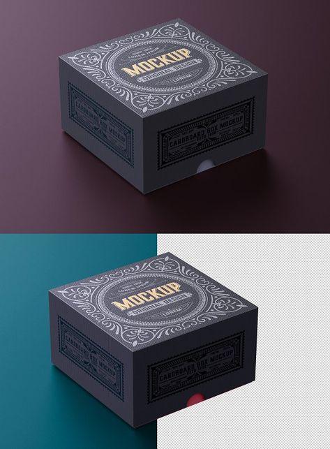 Download Luxury Cardboard Box Mockup Box Mockup Template Design Cardboard Box