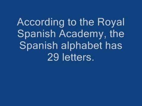 Spanish alphabet song