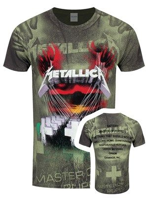 Official Metallica James Hetfield Iron Cross Mens T-shirt Heavy Metal Rock Band