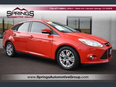 Used 2012 Ford Focus Sel Sedan For Sale In Colorado Springs Co 80909 Kelley Blue Book Ford Focus Blue Books Ford Focus St