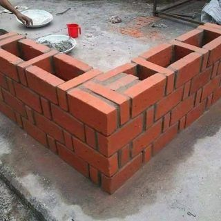 Rat Trap Bond Is Also Known As Chinese Bond In Fact Chinese Bond Is A Method Used When You Are Constructing Wit Brick Design Brick Architecture Brick Masonry