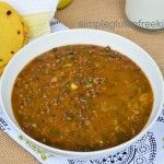 Daal Saag / Lentil Stew with Garbanzo Leaves