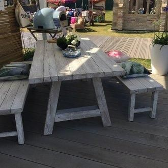 Composite Outdoor Dining Table And Bench Set Low Maintenance And Super Cute Table And Bench Set Dining Table With Bench Bench Set