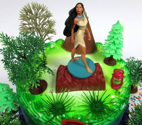 Awesome Pocahontas Themed Princess Pocahontas Birthday Cake Topper Set Personalised Birthday Cards Cominlily Jamesorg
