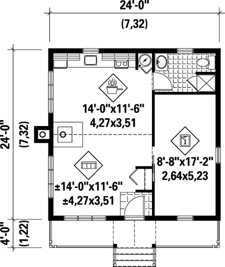 139 best Tiny House Plans images on Pinterest | Small house plans ...