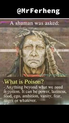 Anything beyond what we need is poison  it can be power. Laziness. Food. Ego. Ambition. Vanity. Fear. Anger or whatever. #quotes #success #fear #inspire