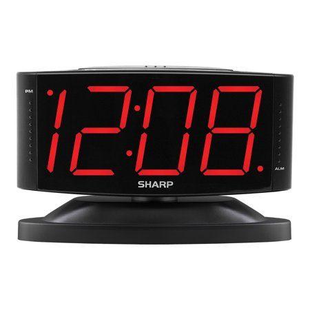 Sharp Alarm Clock With Jumbo Display