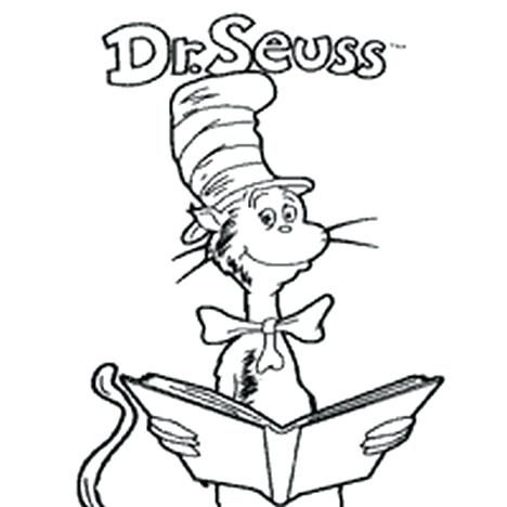 Cat In The Hat Coloring Pages Download Cat In The Hat Face
